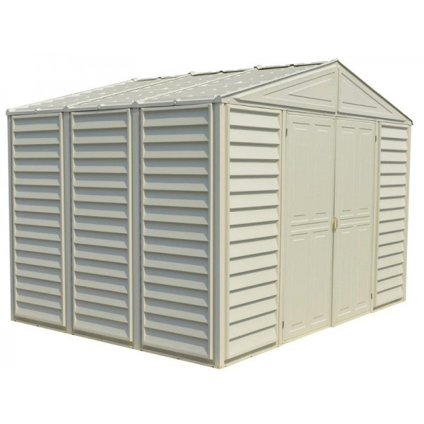 DuraMax Woodbridge 10 5x8 Vinyl Storage Shed with Foundation Kit (00224-1M)