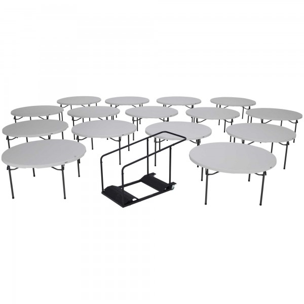 Lifetime Pack Inch Round Commercial Folding Tables W Cart - 60 inch conference table