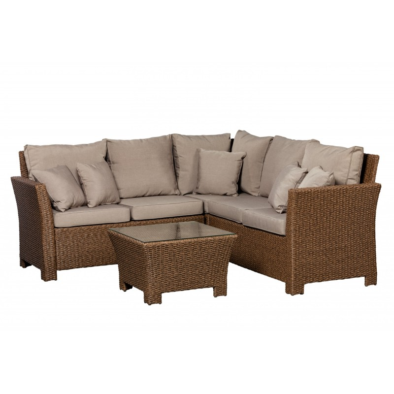 Patio Sense Jarrett Wicker Couch Sectional Set (62540)