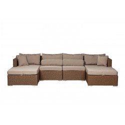 Patio Sense Teagarden Wicker Couch Sectional Set (62541)