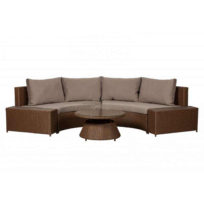 Patio Sense Webster Wicker Couch Sectional Set (62542)