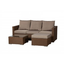 Patio Sense Dorsey Wicker Sectional Set (62543)