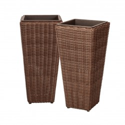 Patio Sense Alto 2-Piece Wicker Planter Set (62501)