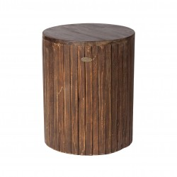Patio Sense Michael Round Garden Stool - Brown (62421)