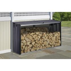 Arrow 8x2 Firewood Rack - Anthracite (90176)