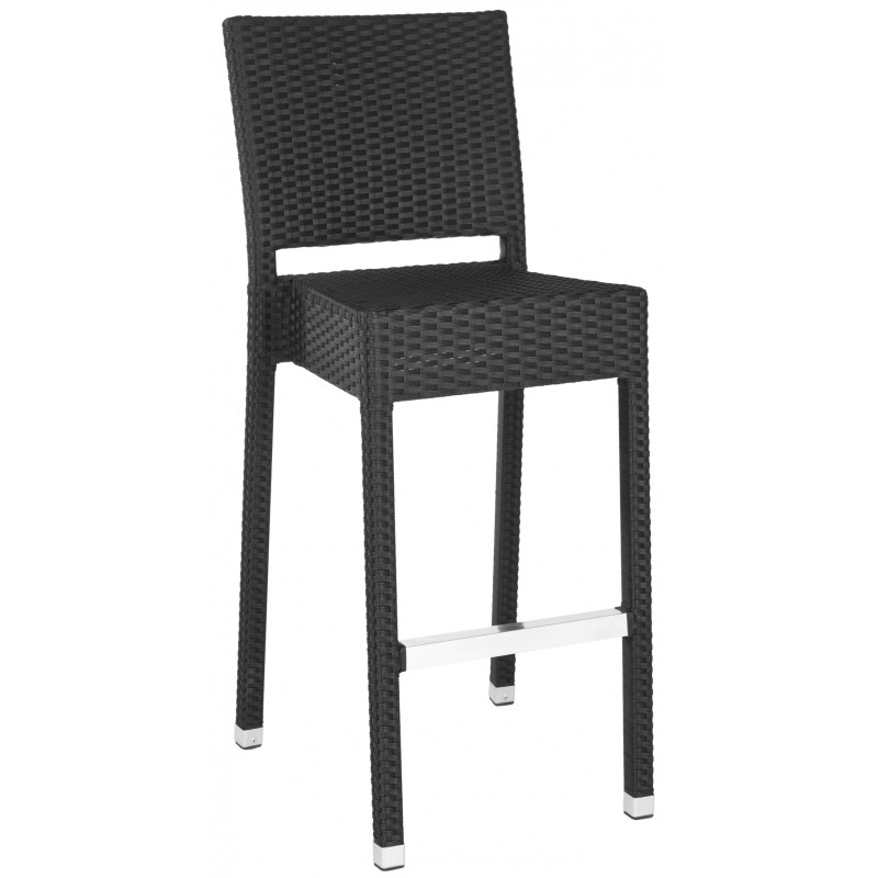 Safavieh Bethel Indoor-Outdoor Bar Stool - Black (FOX5201A)