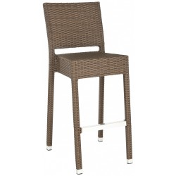 SAFAVIEH BETHEL INDOOR-OUTDOOR BAR STOOL - BROWN (FOX5201B)