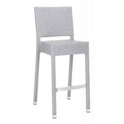SAFAVIEH BETHEL INDOOR-OUTDOOR BAR STOOL - GREY (FOX5201D)