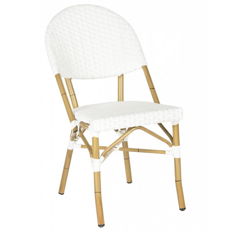 Safavieh Barrow Indoor-Outdoor Stacking Arm Chair Set of 2 - White (FOX5203C-SET2)