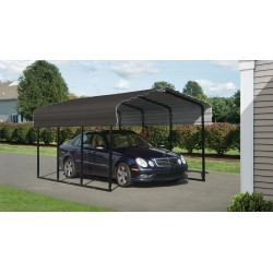 Arrow 10x15x7 Steel Carport Kit - Charcoal (CPHC101507)