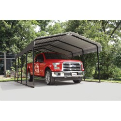 Arrow 12x20x7 Steel Carport Kit - Charcoal (CPHC122007)