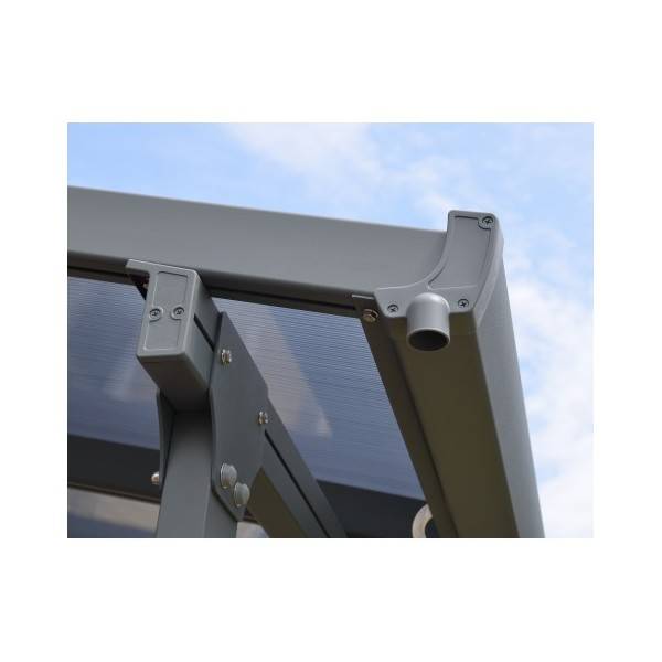 Palram 10x50 Feria Patio Cover Kit Gray Hg9450