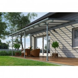 Palram 10x50 Feria Patio Cover Kit - Gray (HG9450)