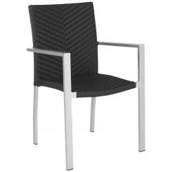 CORDOVA INDOOR-OUTDOOR STACKING ARM CHAIR