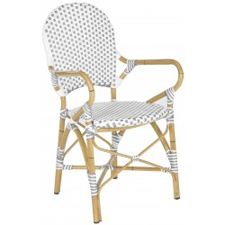HOOPER INDOOR-OUTDOOR STACKING ARM CHAIR