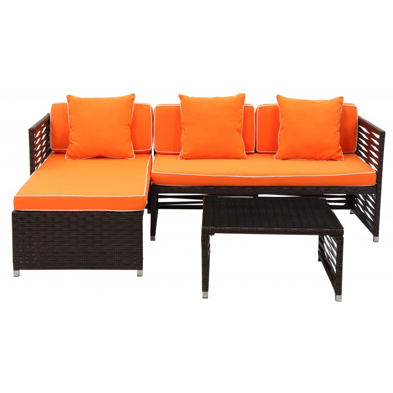 Likoma Wicker 3 PC Outdoor Set