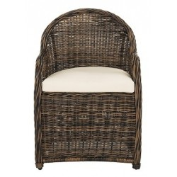 NEWTON WICKER ARM CHAIR WITH CUSHION