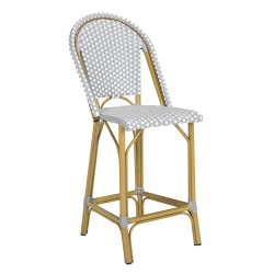 Gresley Indoor-Outdoor Stacking French Bistro Counter Stool