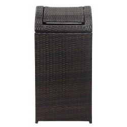 BISHOP OUTDOOR WICKER 18 GALLON TRASH BIN
