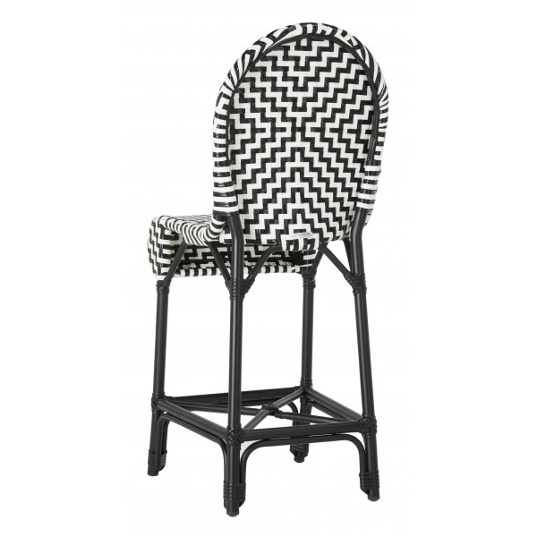 Fantastic Safavieh Shea Indoor Outdoor Counter Stool Black White Pat4020A Ibusinesslaw Wood Chair Design Ideas Ibusinesslaworg