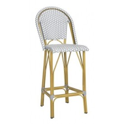 FORD INDOOR-OUTDOOR STACKING FRENCH BISTRO BAR STOOL