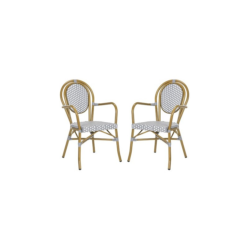 Rosen French Bistro Stacking Arm Chair