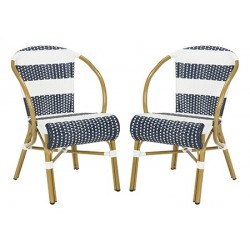 Sarita Striped french Bistro Stacking Side Chair