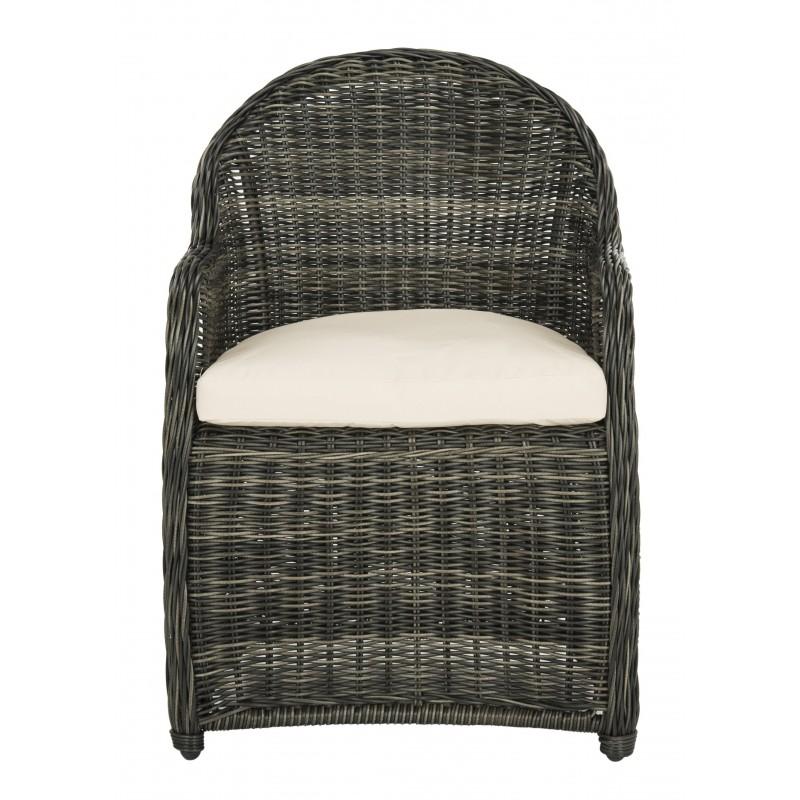 Newton Wicker Arm Chair with Cushion