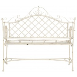 Abner Wrought Iron 45.75-Inch W Outdoor Garden Bench