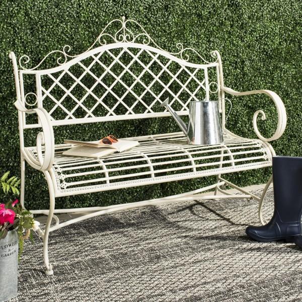 Safavieh Abner Wrought Iron 45 75 Inch W Outdoor Garden