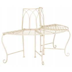 Abia Wrought Iron 50-Inch W Outdoor Tree Bench