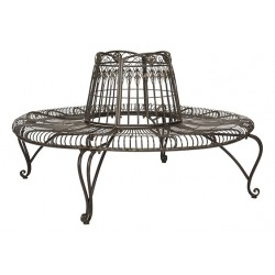 Ally Darling Wrought Iron 60.25-inch W Outdoor Tree Bench