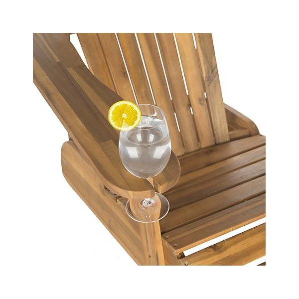 Safavieh Vista Wine Gl Holder Adirondack Chair Natural Pat6727a