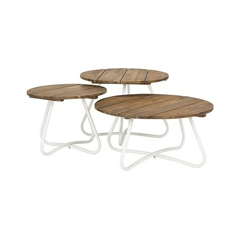 Safavieh Henderson 3pc Wood Top Coffee Table - Natural/White (PAT6747A)