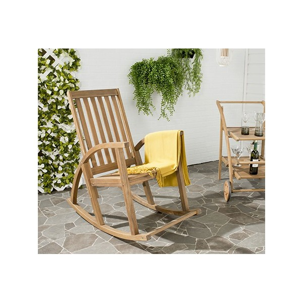 Superb Safavieh Clayton Rocking Chair Natural Pat7003A Ocoug Best Dining Table And Chair Ideas Images Ocougorg