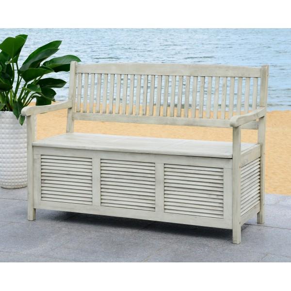 Safavieh Brisbane Storage Bench - White (PAT7017C)