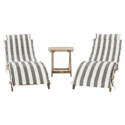 Safavieh Pacifica 3 Piece Lounge Set - Natural/Grey/White (PAT7020A)