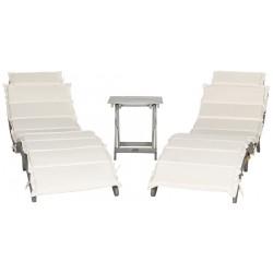 Safavieh Pacifica 3 Piece Lounge Set - Grey/Beige (PAT7020E)