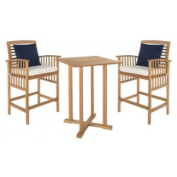 Pate 3 PC Bar 39.8-inch H Table Bistro Set