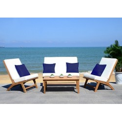 Chaston 4 PC Outdoor Living Set with Accent Pillows