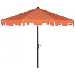 UV Resistant Zimmerman 9 FT Crank Market Push Button Tilt Umbrella with Flap