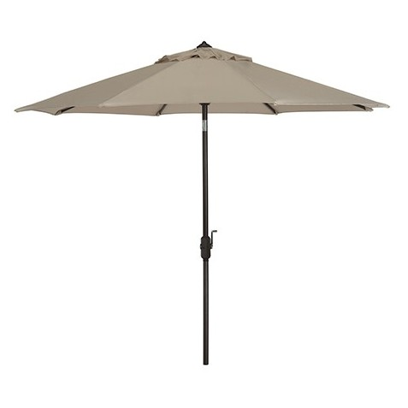 Safavieh Ortega 9 FT Auto Tilt UV Resistant Crank Umbrella - Beige (PAT8001A)