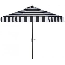 Safavieh Elsa Fashion Line 9FT UV Resistant Auto Tilt Umbrella - Black/White (PAT8003A)