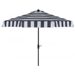 Safavieh Elsa Fashion Line 9FT UV Resistant Auto Tilt Umbrella - Navy/White (PAT8003B)