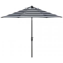 Safavieh Iris Fashion Line 9FT UV Resistant Auto Tilt Umbrella - Black/White (PAT8004A)