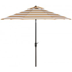 Safavieh Iris Fashion Line 9FT UV Resistant Auto Tilt Umbrella - Orange/White (PAT8004C)