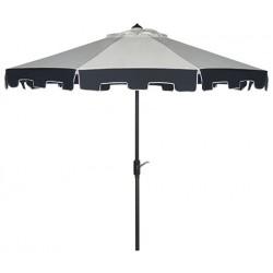 Safavieh City Fashion 9FT UV Resistant Auto Tilt Umbrella - Beige/Navy (PAT8005A)