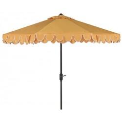 Safavieh Elegant Valance 9FT UV Resistant Auto Tilt Umbrella - Yellow/White (PAT8006B)