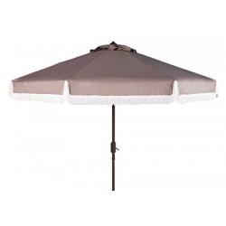 Milan Fringe 9ft Crank Outdoor Push Button Tilt Umbrella