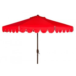 Venice Single Scallop 9ft Crank Outdoor Push Button Tilt Umbrella